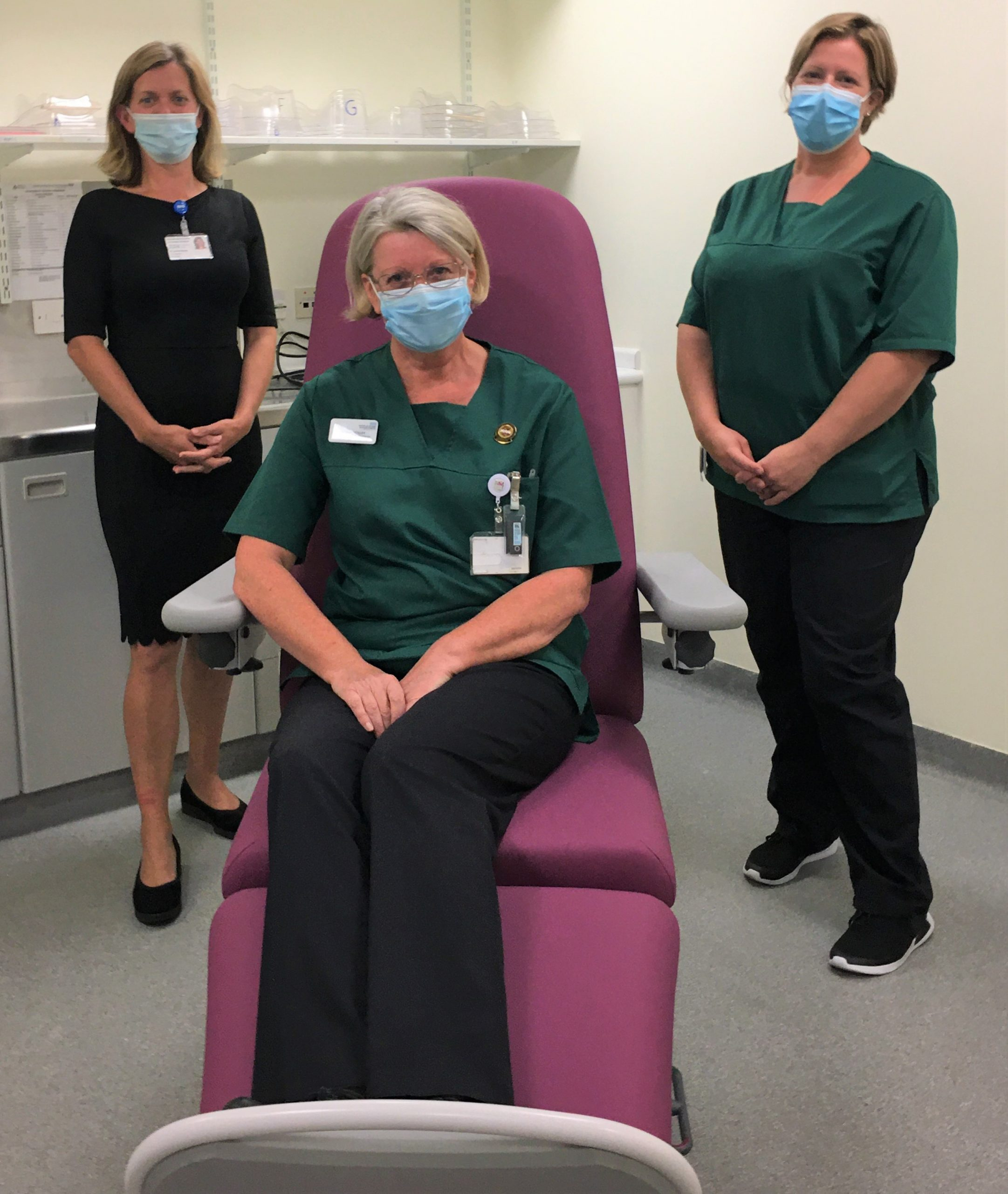 Skin cancer treatment chair in place after radiographer's cycle challenge